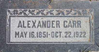 CARR, ALEXANDER - Salt Lake County, Utah | ALEXANDER CARR - Utah Gravestone Photos