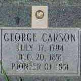 CARSON, GEORGE - Salt Lake County, Utah | GEORGE CARSON - Utah Gravestone Photos