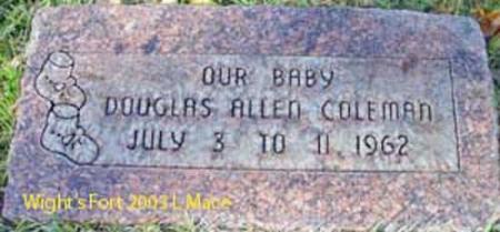 COLEMAN, DOUGLAS ALLEN - Salt Lake County, Utah   DOUGLAS ALLEN COLEMAN - Utah Gravestone Photos
