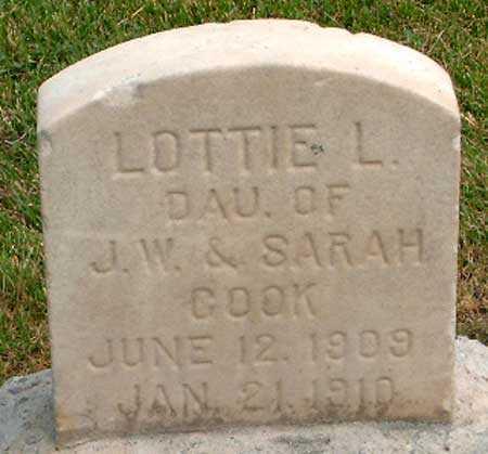 COOK, LOTTIE LUELLA - Salt Lake County, Utah | LOTTIE LUELLA COOK - Utah Gravestone Photos