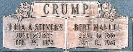 CRUMP, BERT MANUEL - Salt Lake County, Utah | BERT MANUEL CRUMP - Utah Gravestone Photos