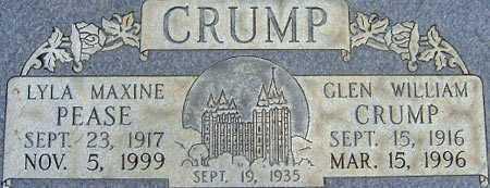 CRUMP, GLEN WILLIAM - Salt Lake County, Utah | GLEN WILLIAM CRUMP - Utah Gravestone Photos
