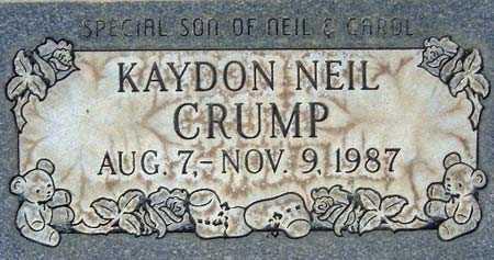 CRUMP, KAYDON NEIL - Salt Lake County, Utah | KAYDON NEIL CRUMP - Utah Gravestone Photos