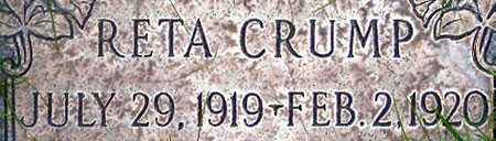 CRUMP, RETA - Salt Lake County, Utah | RETA CRUMP - Utah Gravestone Photos