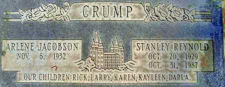 CRUMP, STANLEY REYNOLD - Salt Lake County, Utah | STANLEY REYNOLD CRUMP - Utah Gravestone Photos