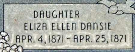 DANSIE, ELIZA ELLEN - Salt Lake County, Utah | ELIZA ELLEN DANSIE - Utah Gravestone Photos