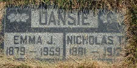 JORGENSEN DANSIE, EMMA - Salt Lake County, Utah | EMMA JORGENSEN DANSIE - Utah Gravestone Photos