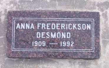 FREDERICKSON, ANNA - Salt Lake County, Utah | ANNA FREDERICKSON - Utah Gravestone Photos