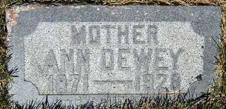 GREEN DEWEY, ANN ELIZABETH - Salt Lake County, Utah | ANN ELIZABETH GREEN DEWEY - Utah Gravestone Photos