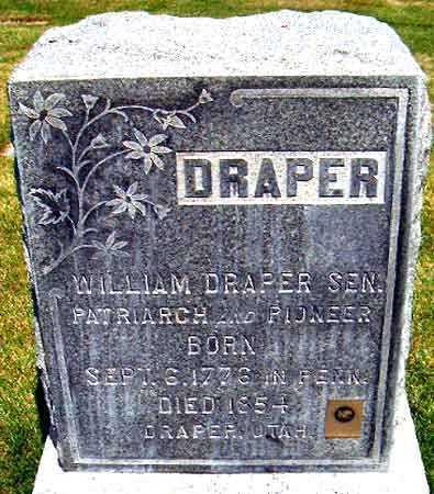 DRAPER, WILLIAM, SR. - Salt Lake County, Utah | WILLIAM, SR. DRAPER - Utah Gravestone Photos