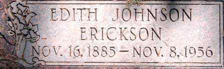 JOHNSON ERICKSON, EDITH SOPHIA - Salt Lake County, Utah   EDITH SOPHIA JOHNSON ERICKSON - Utah Gravestone Photos