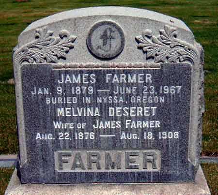 FARMER, JAMES - Salt Lake County, Utah | JAMES FARMER - Utah Gravestone Photos