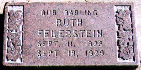 FEUERSTEIN, RUTH - Salt Lake County, Utah | RUTH FEUERSTEIN - Utah Gravestone Photos