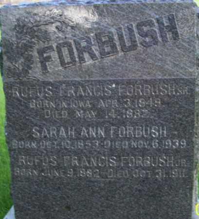 FORBUSH, RUFUS FRANCIS, SR - Salt Lake County, Utah | RUFUS FRANCIS, SR FORBUSH - Utah Gravestone Photos