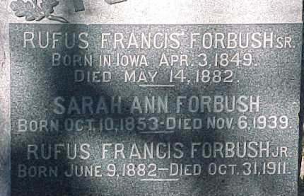 FORBUSH, SARAH ANN - Salt Lake County, Utah | SARAH ANN FORBUSH - Utah Gravestone Photos