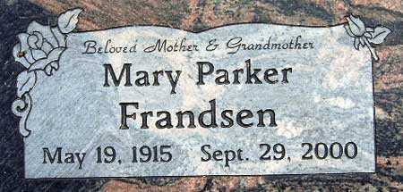 PARKER, MARY - Salt Lake County, Utah | MARY PARKER - Utah Gravestone Photos