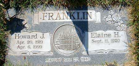 FRANKLIN, ELAINE H. - Salt Lake County, Utah | ELAINE H. FRANKLIN - Utah Gravestone Photos