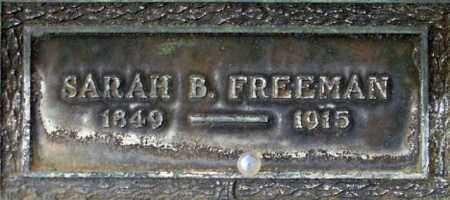FREEMAN, SARAH - Salt Lake County, Utah | SARAH FREEMAN - Utah Gravestone Photos