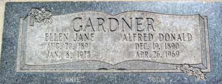 GARDNER, ALFRED DONALD - Salt Lake County, Utah | ALFRED DONALD GARDNER - Utah Gravestone Photos