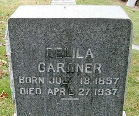 GARDNER, DELILA - Salt Lake County, Utah | DELILA GARDNER - Utah Gravestone Photos