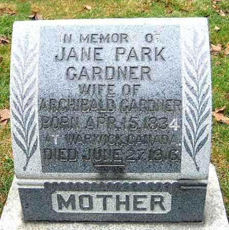 GARDNER, JANE - Salt Lake County, Utah | JANE GARDNER - Utah Gravestone Photos