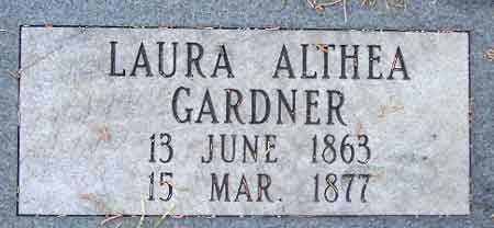 GARDNER, LAURA ALTHEA - Salt Lake County, Utah   LAURA ALTHEA GARDNER - Utah Gravestone Photos