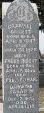 RIDOUT GILLETT, FANNY - Salt Lake County, Utah | FANNY RIDOUT GILLETT - Utah Gravestone Photos