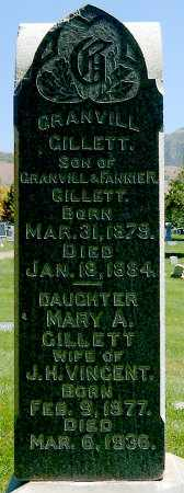 GILLETT, GRANVILL - Salt Lake County, Utah | GRANVILL GILLETT - Utah Gravestone Photos