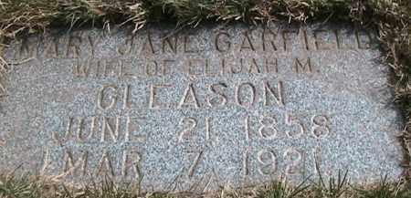 GARFIELD GLEASON, MARY JANE - Salt Lake County, Utah | MARY JANE GARFIELD GLEASON - Utah Gravestone Photos