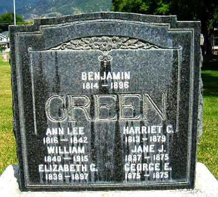GREEN, BENJAMIN - Salt Lake County, Utah | BENJAMIN GREEN - Utah Gravestone Photos