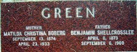 GREEN, MATILDA CHRISTINA - Salt Lake County, Utah | MATILDA CHRISTINA GREEN - Utah Gravestone Photos
