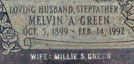 GREEN, MELVIN ALFRED - Salt Lake County, Utah | MELVIN ALFRED GREEN - Utah Gravestone Photos