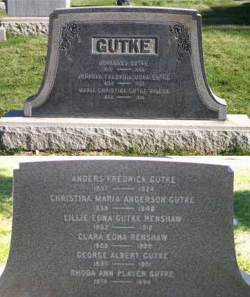 GUTKE, CHRISTINA MARIA - Salt Lake County, Utah | CHRISTINA MARIA GUTKE - Utah Gravestone Photos