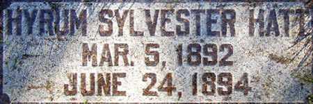 HATT, HYRUM SYLVESTER - Salt Lake County, Utah | HYRUM SYLVESTER HATT - Utah Gravestone Photos