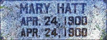 HATT, MARY - Salt Lake County, Utah | MARY HATT - Utah Gravestone Photos