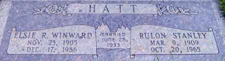 HATT, ELSIE RUTH - Salt Lake County, Utah | ELSIE RUTH HATT - Utah Gravestone Photos