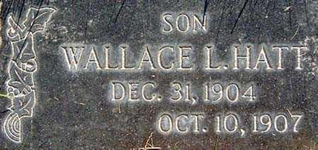 HATT, WALLACE LEVI - Salt Lake County, Utah | WALLACE LEVI HATT - Utah Gravestone Photos