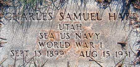 HATT, CHARLES SAMUEL - Salt Lake County, Utah | CHARLES SAMUEL HATT - Utah Gravestone Photos