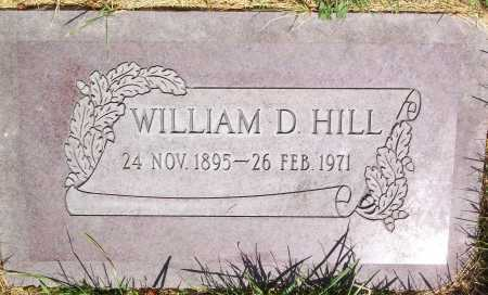 HILL, WILLIAM DELBERT - Salt Lake County, Utah   WILLIAM DELBERT HILL - Utah Gravestone Photos