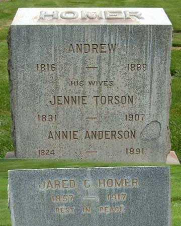 HOMER, ANDREW - Salt Lake County, Utah | ANDREW HOMER - Utah Gravestone Photos
