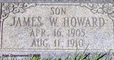 HOWARD, JAMES WILLIAM - Salt Lake County, Utah | JAMES WILLIAM HOWARD - Utah Gravestone Photos