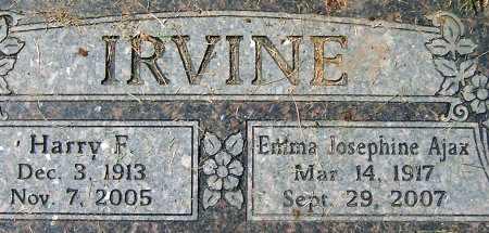 AJAZ IRVINE, EMMA JOSEPHINE - Salt Lake County, Utah | EMMA JOSEPHINE AJAZ IRVINE - Utah Gravestone Photos