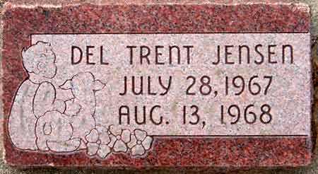 JENSEN, DEL TRENT - Salt Lake County, Utah | DEL TRENT JENSEN - Utah Gravestone Photos