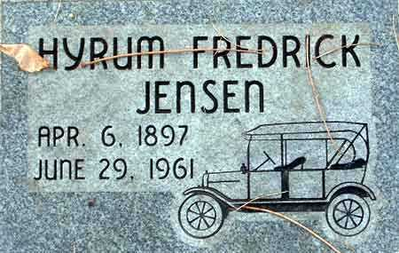 JENSEN, HYRUM FREDRICK - Salt Lake County, Utah | HYRUM FREDRICK JENSEN - Utah Gravestone Photos