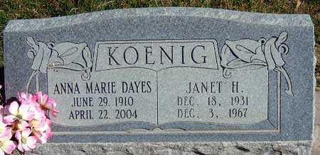 DAYES KOENIG, ANNA MARIE - Salt Lake County, Utah | ANNA MARIE DAYES KOENIG - Utah Gravestone Photos