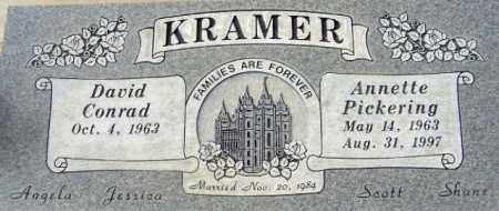 KRAMER, DAVID CONRAD - Salt Lake County, Utah | DAVID CONRAD KRAMER - Utah Gravestone Photos
