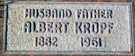 KROPF, ALBERT - Salt Lake County, Utah | ALBERT KROPF - Utah Gravestone Photos