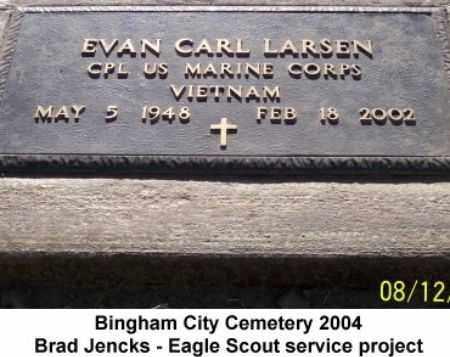LARSEN, EVAN CARL - Salt Lake County, Utah | EVAN CARL LARSEN - Utah Gravestone Photos