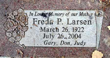 LARSEN, FREDA P. - Salt Lake County, Utah   FREDA P. LARSEN - Utah Gravestone Photos