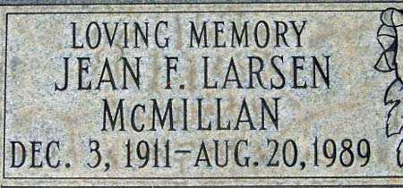 FULLMER LARSEN, JEAN - Salt Lake County, Utah | JEAN FULLMER LARSEN - Utah Gravestone Photos